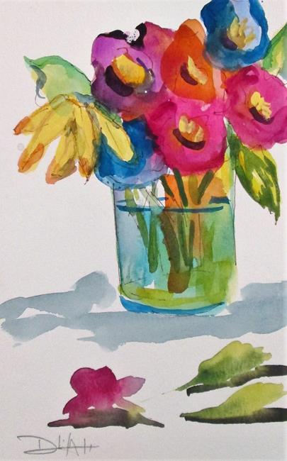 Art: Floral Bouquet by Artist Delilah Smith