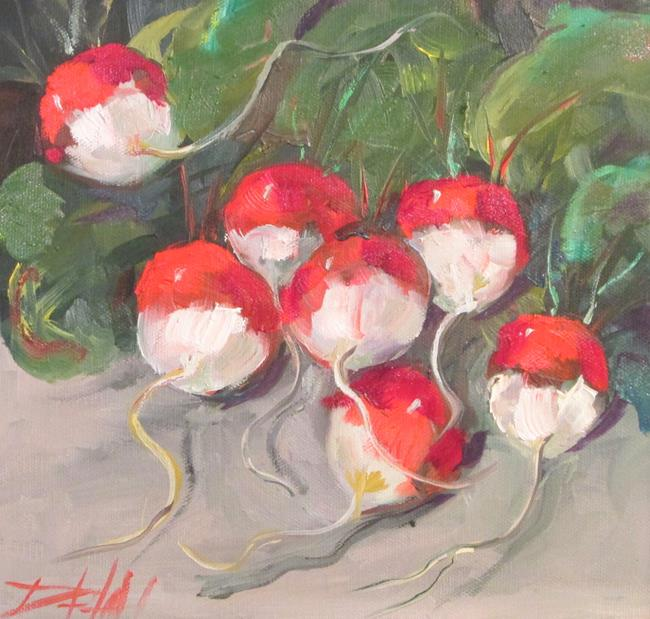 Art: Radishes No. 2 by Artist Delilah Smith