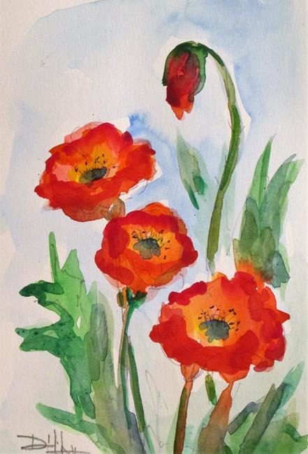 Art: Poppies No. 18 by Artist Delilah Smith