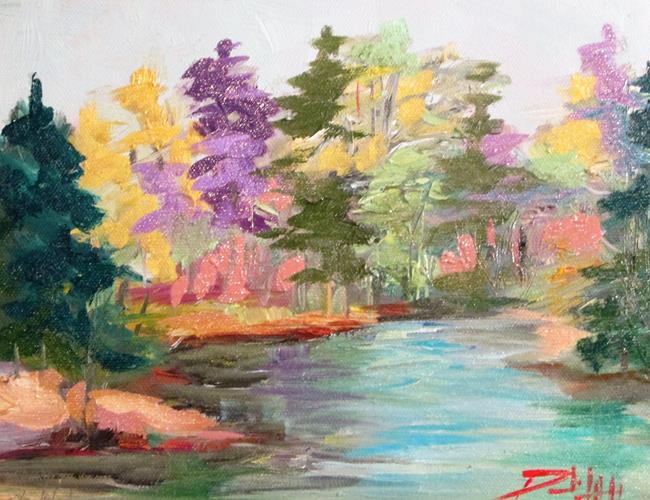 Art: Woodland River by Artist Delilah Smith