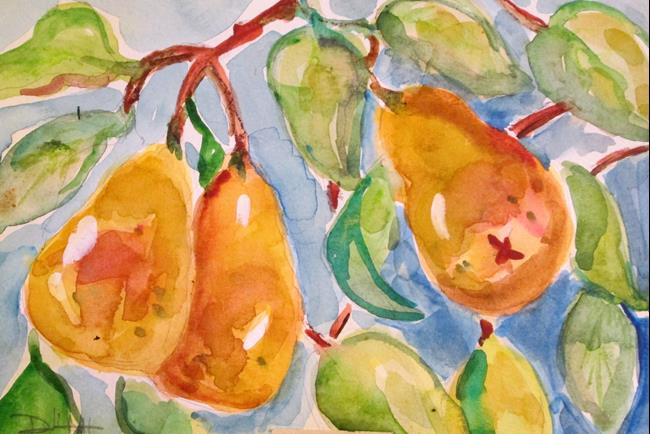 Art: Pears on the Tree by Artist Delilah Smith