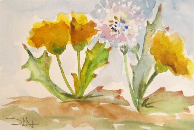 Art: Dandelions No. 4 by Artist Delilah Smith