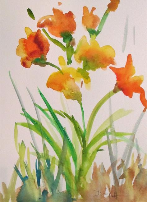 Art: Wild Yellow Flowers by Artist Delilah Smith