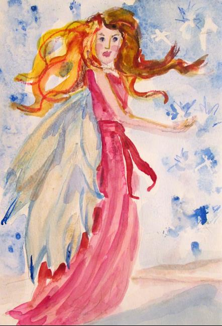 Art: Snow Fairy by Artist Delilah Smith