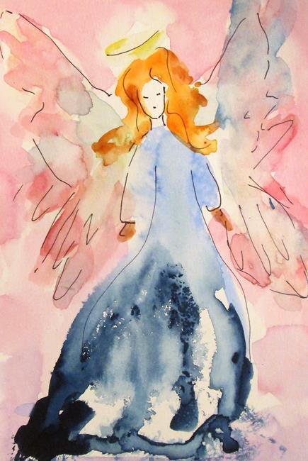 Art: Blue Angel by Artist Delilah Smith