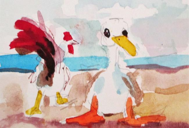 Art: Duck and Chicken by Artist Delilah Smith