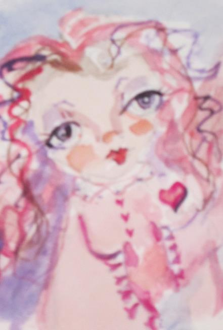 Art: Valentine Fairy Aceo by Artist Delilah Smith