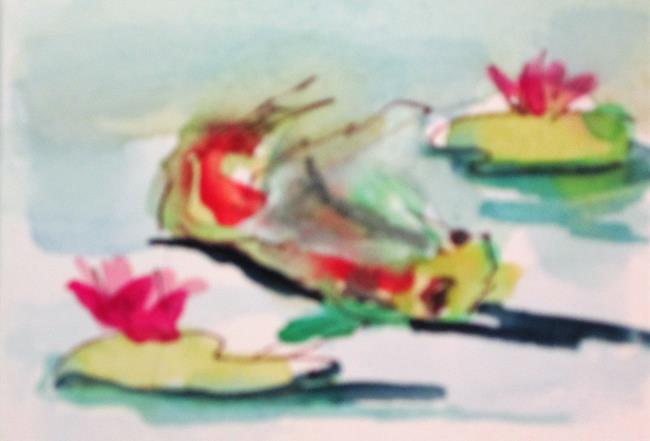 Art: Koi and Lily Pads by Artist Delilah Smith