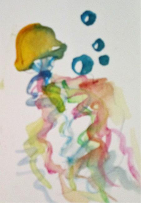 Art: Jellyfish and Bubbles by Artist Delilah Smith