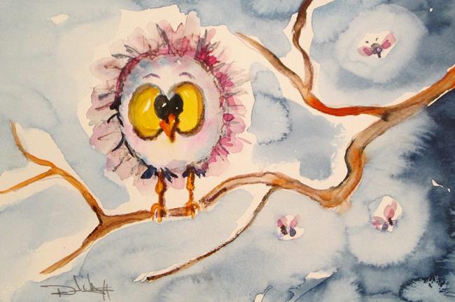 Art: Bird and Fireflies by Artist Delilah Smith