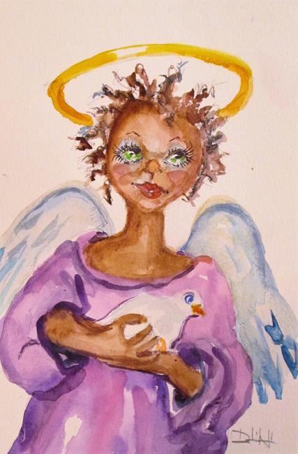 Art: Angel and Dove by Artist Delilah Smith