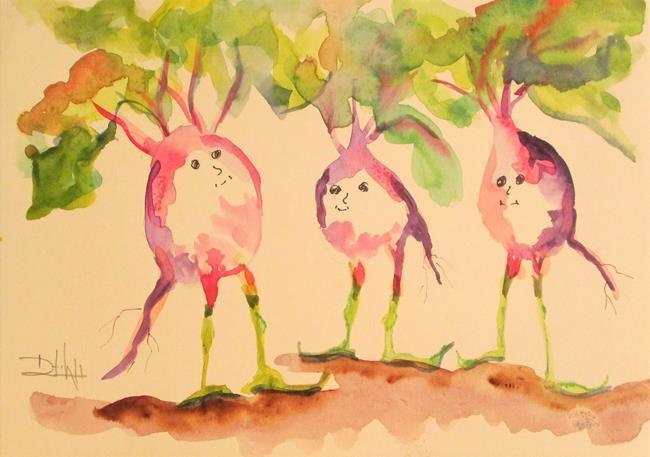 Art: Radish People by Artist Delilah Smith