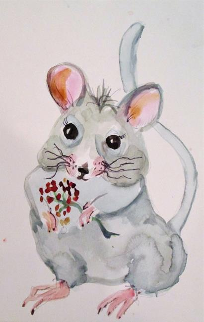Art: Gray Mouse by Artist Delilah Smith