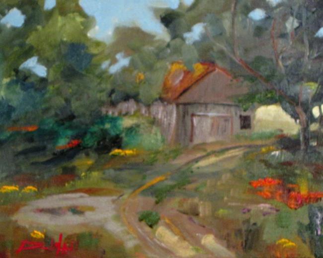 Art: Old Barn by Artist Delilah Smith