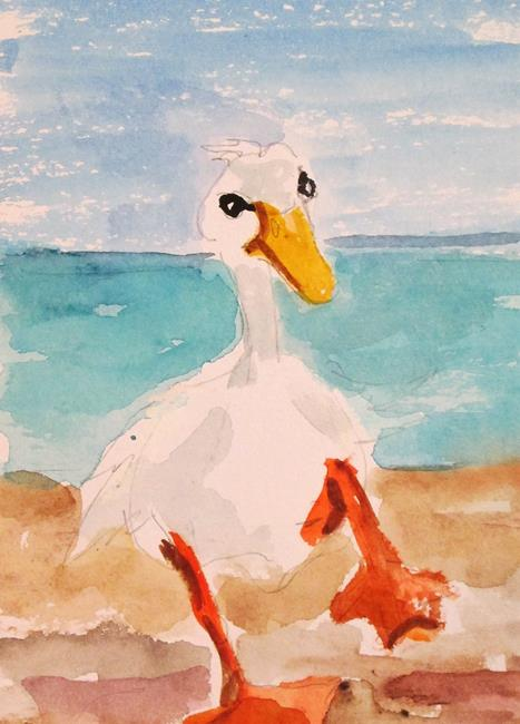 Art: Wading Duck by Artist Delilah Smith