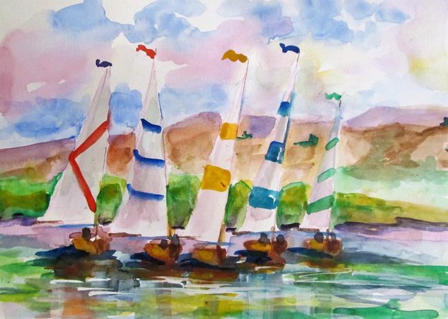 Art: Sailboats No. 30 by Artist Delilah Smith