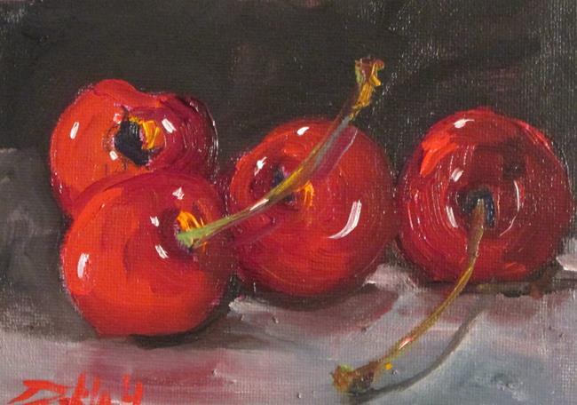 Art: Four Cherries by Artist Delilah Smith
