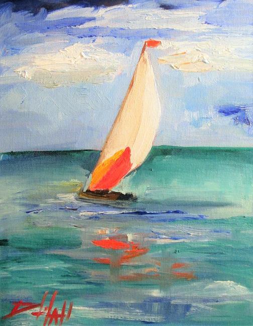Art: Sailboat No. 32 by Artist Delilah Smith