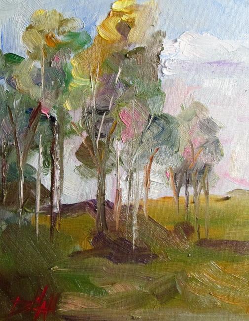 Art: Woodland Landscape by Artist Delilah Smith