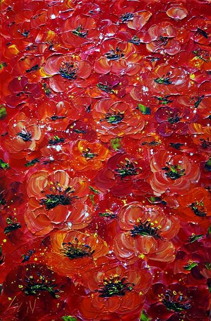 Art: TUSCANY Red Flowers by Artist LUIZA VIZOLI