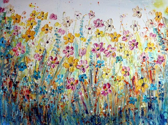 Art: WILDFLOWER MEADOWS by Artist LUIZA VIZOLI