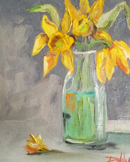 Art: Yellow Daffodils in Water by Artist Delilah Smith