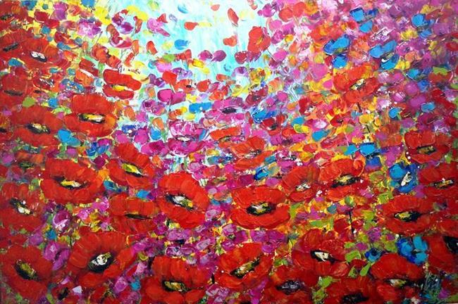 Art: WILD FLOWERS by Artist LUIZA VIZOLI