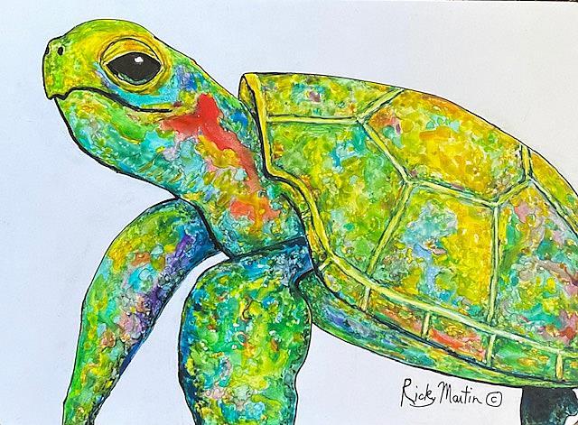 Art: Sea Turtle by Artist Ulrike 'Ricky' Martin