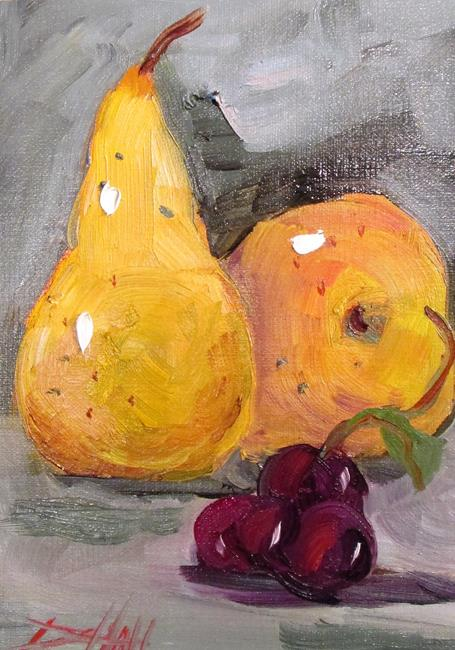 Art: Pears and Grapes by Artist Delilah Smith