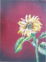 Art: Sunflower painting by Leonard G. Collins by Artist Leonard G. Collins