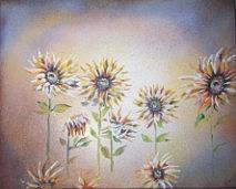 Art: Sunflower paingting 2 by Leonard G. Collins by Artist Leonard G. Collins