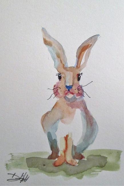Art: Cute Fat Rabbit by Artist Delilah Smith