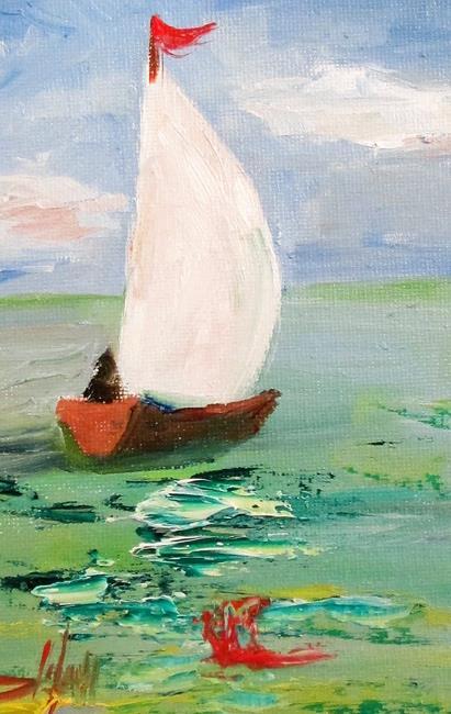Art: Sailboat No. 33 by Artist Delilah Smith