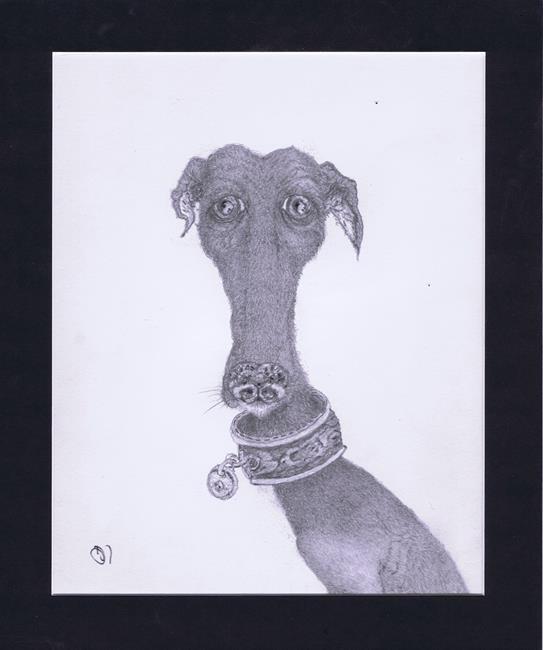 Art: STAN - greyhound by Artist Dawn Barker