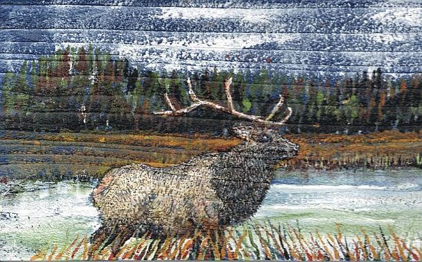 Art: Elk Painting by Leonard G. Collins by Artist Leonard G. Collins