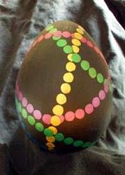 Art: Mardi Gras Egg by Artist Melissa Morton