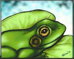 Art: Lily Pad by Artist Elaina Wagner