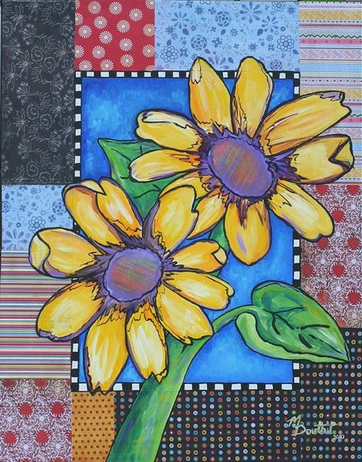 Art: Sunflower Quilt by Artist Melanie Douthit