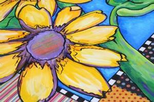 Detail Image for art Sunflower Quilt