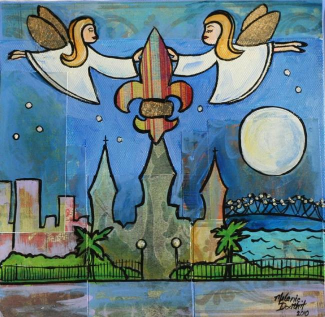 Art: Angels of New Orleans by Artist Melanie Douthit