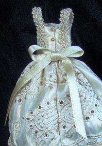 Detail Image for art Silk Party Dress in Gold