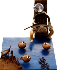 Art: The Fisherman Piping by Artist john christopher borrero