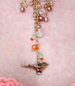 Detail Image for art NFS Bird and Butterfly OOAK CHOKER Necklace