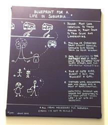 Art: Blueprint for Suburbia by Artist Jenny Doss