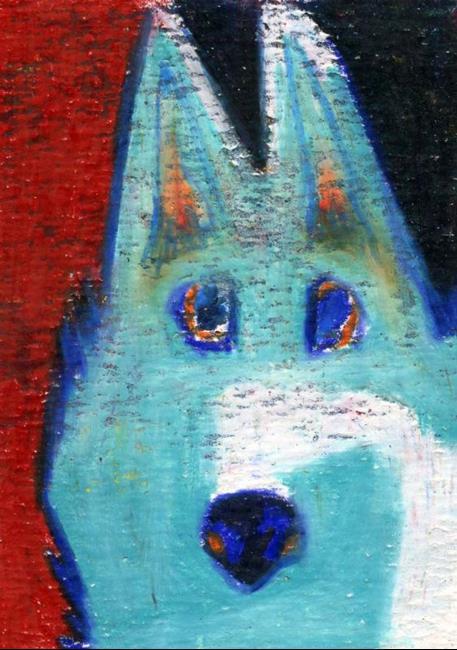 Art: My Fraidy Cat Shepherd by Artist Jennifer Lommers