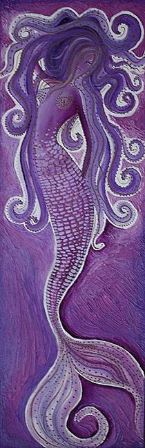 Art: Purple Mermaid by Artist Laura Barbosa