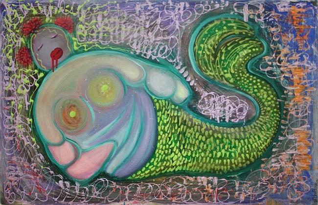 Art: The Fat Mermaid by Artist Laura Barbosa