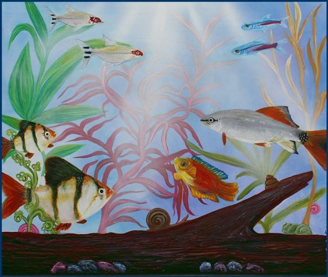 Art: Aquarium by Artist Laura Barbosa