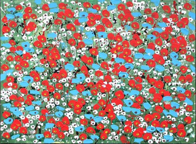 Art: Field of Flowers (s) by Artist Luba Lubin