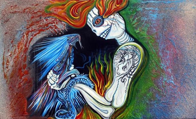 Art: Little Dragon by Artist Laura Barbosa